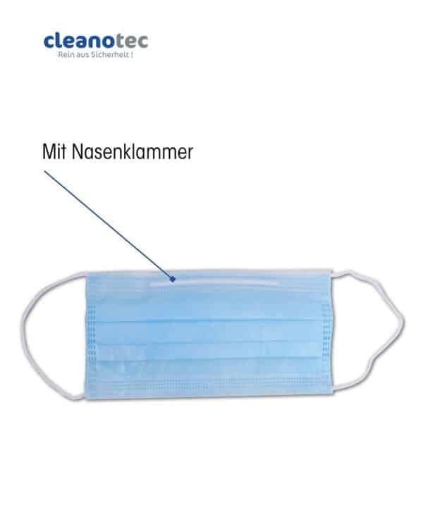 Mund Nasen Schutz Maske Einweg mit Nasenklammer