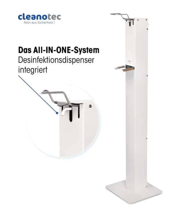Hygienesäule HS6 weiß