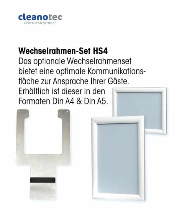 Wechselrahmenset Hygienesäule DIN A4 DIN A5