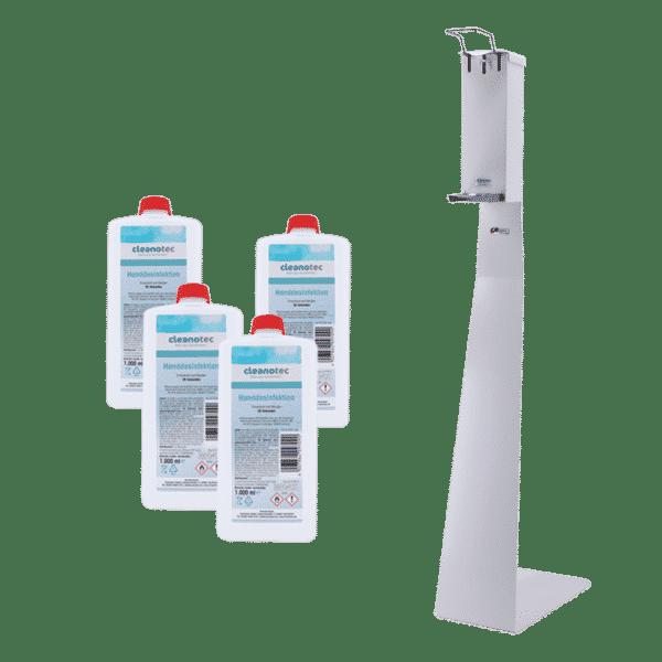 Starterset Hygienetechnik III weiß (HS5 + DS1 + Desinfektion)